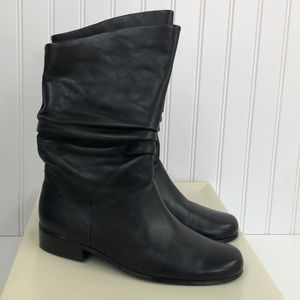 St Johns Bay Black Jamie Leather Low Heel Boots 7